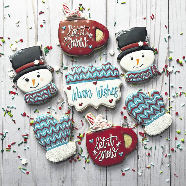 Pictured are some of Cannon's winter-themed cookies.