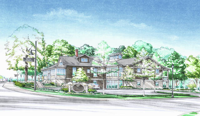 Pictured is a rendering of the proposed Day Dream Inn, which would sit at the northwest corner of the East Olentangy Street and Grace Drive intersection in Powell.