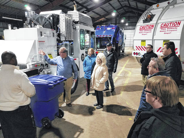 Pictured is Delaware Director of Public Works/City Engineer Bill Ferrigno showing members of last year's Citizens Academy the ins and outs of trash collection.