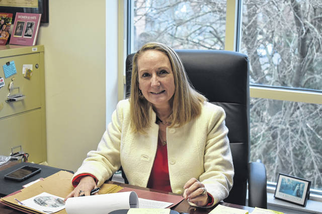 Delaware County Prosecutor Carol O'Brien is pictured in her office in the Rutherford B. Hayes Administrative Building Thursday. O'Brien will leave her position as prosecutor on Feb. 28 and begin serving as the deputy attorney general for the State of Ohio.