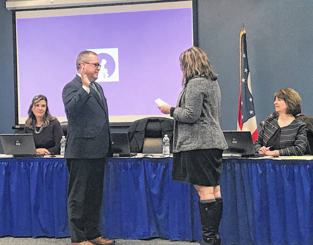 Kevin O'Brien was sworn in as the new president of the Olentangy Local Schools Board of Education on Thursday night. O'Brien replaces Mindy Patrick, who will now serve as the vice president.