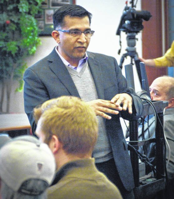 During the Liberty Township Board of Trustees meeting Tuesday, the new EMS medical director, Dr. Ashish Panchal, introduced himself to residents and answered a few of their questions after presenting a brief PowerPoint presentation.