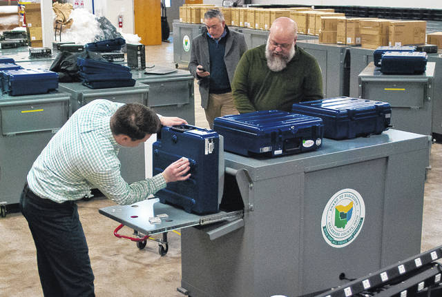 On March 19, technicians from RBM Consulting worked with staff from the Delaware County Board of Elections to ready the new voting equipment for the May 7 Primary Election.