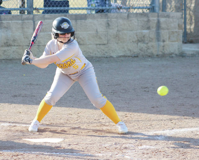 Buckeye Valley's Lily Irvine prepares to take a swing during the second inning of Wednesday's MOAC showdown against visiting River Valley.