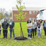 City, students plant tree for Arbor Day