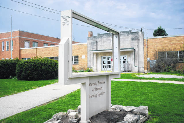 With students now attending school elsewhere, the old Buckeye Valley West Elementary School building in Ostrander awaits its fate as the Buckeye Valley Local School District considers all options, one of which includes selling the property to the Village of Ostrander.