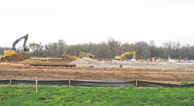 A Tractor Supply Company Store is being built in Berkshire Township, as seen in this photo taken from next-door business Mulch 1st. It will have a Sunbury address.