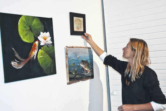 Delaware artist Jacquelyn Cox prepares for her debut solo exhibit at Gallery 22, located at 22 E. Winter St. in downtown Delaware. Cox's work will be displayed at the gallery May 3 through June 22. Gallery 22 is open to the public from 6 to 8 p.m. Friday and Saturday.