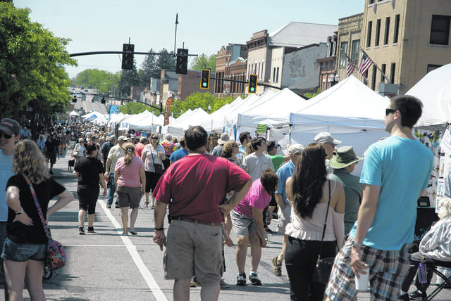 North Sandusky Street in downtown Delaware was packed full of vendors and eventgoers during the 46th annual Delaware Arts Festival held May 18-19.