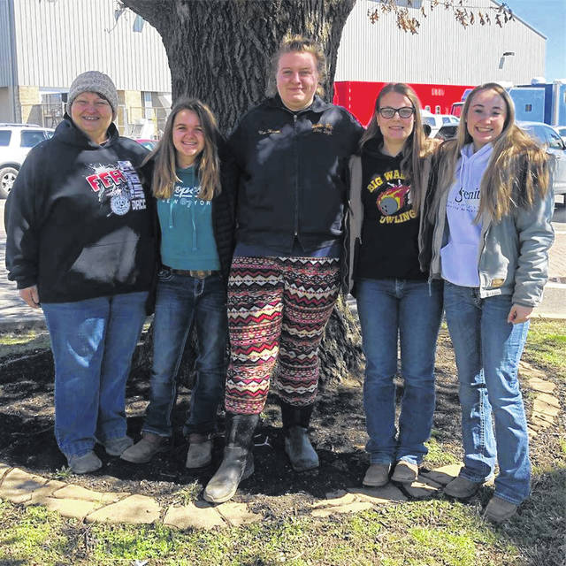 Pictured, left to right, are equine competitors Mona Lord, Alexa DeGenova, Catelyn Vanhoose, Lauren Thiergartner and Maura Flanagan.