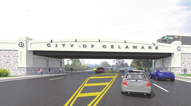 Pictured is a rendering of the new bridge proposed to be built at The Point on the east side of Delaware.