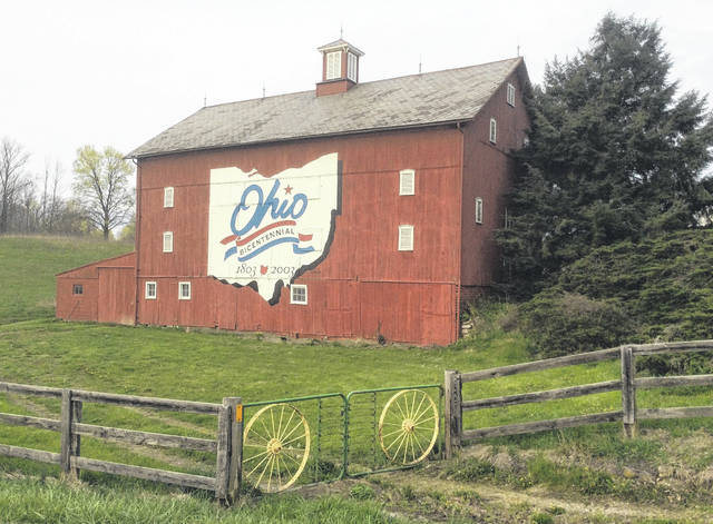 Pictured is the Delaware County Bicentennial Barn acquired by Preservation Parks of Delaware County.