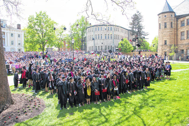 Ohio Wesleyan University celebrated its 175th commencement ceremony May 11. The OWU Class of 2019 includes 303 spring, summer, and fall graduates, including two with perfect 4.0 grade point averages.