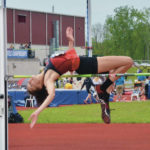 Robinson defends national championship in high jump