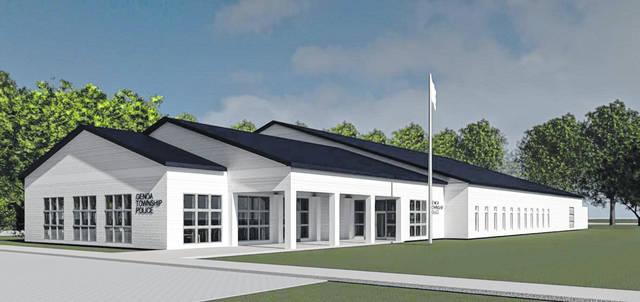 An artist's rendering of the new Genoa Township Police Station.