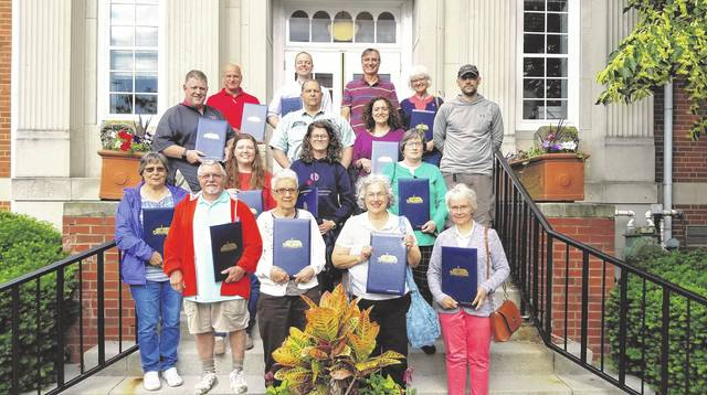 Pictured are 2019 Delaware Citizens Academy graduates who received diplomas June 10 from Mayor Carolyn Kay Riggle. Graduates were Alan Brown, Alycia Ballone, Betty Deel, Betty Schinke, Bill Hanning, Brett Latta, David Rader, Jane Walsh, Lauren Robison, Les Schinke, Lynn Exline, Mallorie Watts, Michele Gatchell, Rich Mercurio, Robert Exline, Ron Waterwash, Sandra Mercurio, Susan Garrett and Vonie DiGenova.