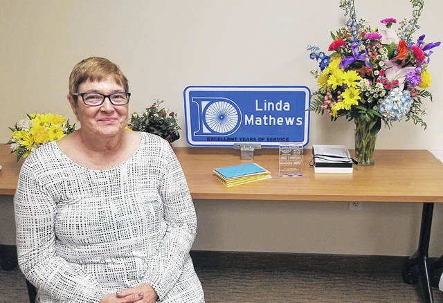 After 36 years of service to the city of Delaware, Linda Mathews retired last week.