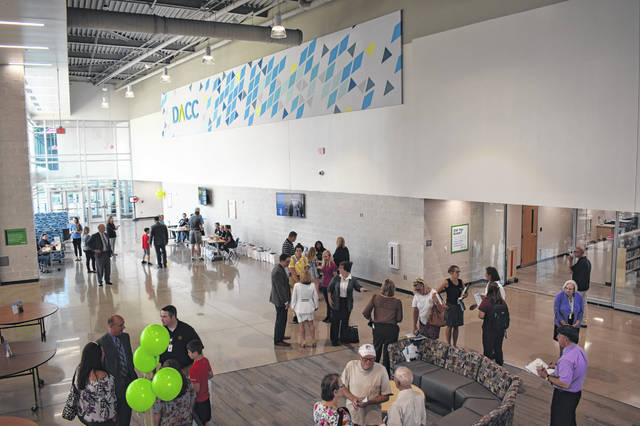Members of the community explore the Delaware Area Career Center Consolidated Campus Thursday afternoon during the grand opening event.