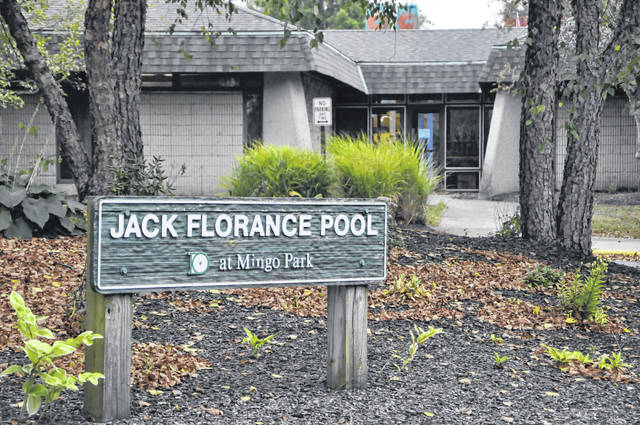 Pictured is the entrance to the Jack Florance Pool at Mingo Park in Delaware. The park is located at 500 E. Lincoln Ave.