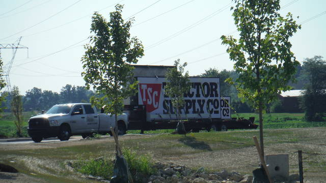 The sign for the new Tractor Supply Co. was recently brought to Berkshire Township.