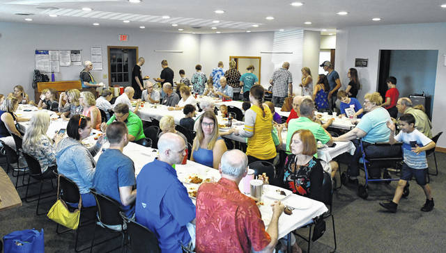 Berlin Township Hall was filled close to capacity Sunday afternoon as the McNamara, Griffith and James family gathered Sunday for the family's 115th reunion. The annual event takes place every year on the second Sunday of August with approximately 30-60 people attending the reunion.