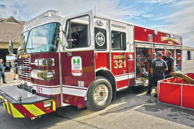 Liberty Township Fire Department firefighter/paramedics trained on the newest piece of apparatus Friday morning, a new Sutphen Fire Engine. The new engine was delivered Thursday and was immediately pressed into service for three runs that night.