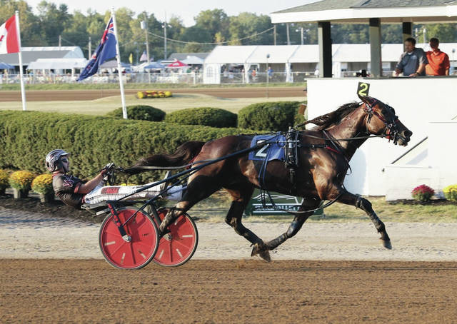 The Chris Beaver trainee, Aunt Rose takes the OBC for three-year-old filly trotters in a stakes record 1:54.