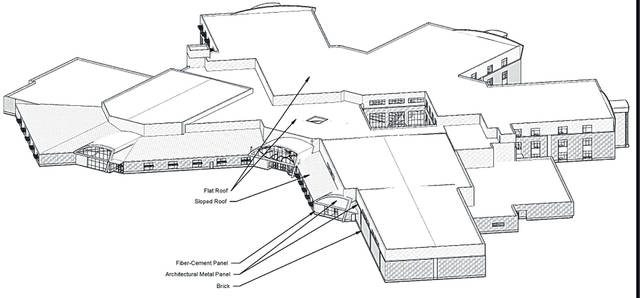 An overhead view of the plans for the new Big Walnut High School.