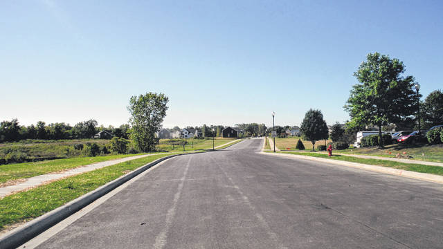Sunbury Meadows Drive at West Granville Street in Sunbury opened last month. The Sunbury Meadows subdivision also has access to state Route 3.