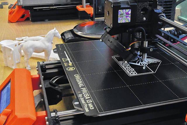The new Maker Annex of the Delaware County District Library offers patrons the chance to create 3-D objects of their own design with the new 3-D printer.