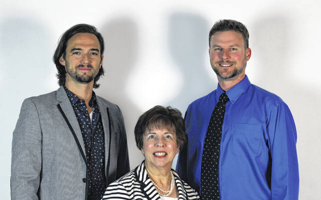 Three alumni were inducted into the Delaware Area Career Center's Hall of Fame on Oct. 10 after a lengthy selection process. Pictured, left to right, are Ryan Keener, Cindy Dinovo and Adam Paisie.