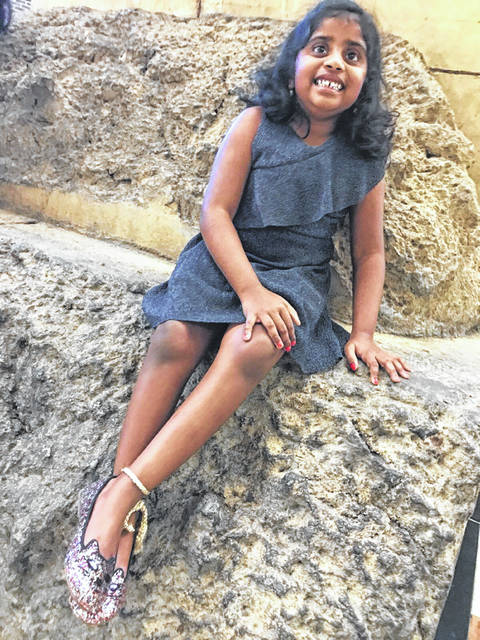 Bhoomi Manjunatha, an 8-year-old Powell resident, will serve as a Patient Champion at Sunday's 40th Columbus Marathon.