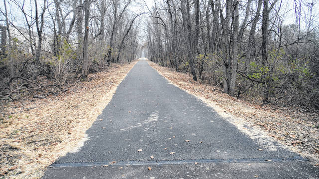 The north end of the new segment of the Galena Brick Trail.