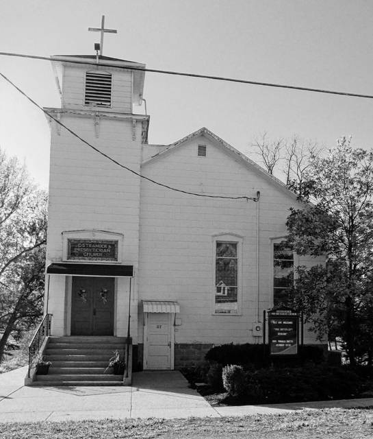 Pictured is the Ostrander Presbyterian Church at 117 W. North St.