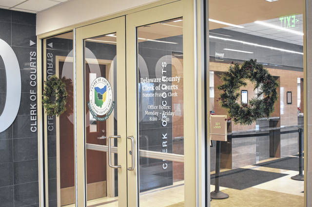 Beginning in January, felony arrests will be filed in the Delaware County Clerk of Courts Office, pictured, which is located inside the Delaware County Courthouse at 117 N. Union St., Level 300, Delaware.
