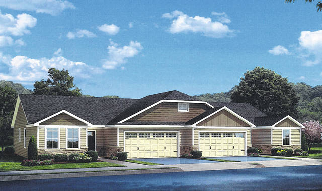 A rendering of what the single-family attached units at the Enclave at the Ravines at Olentangy will look like.