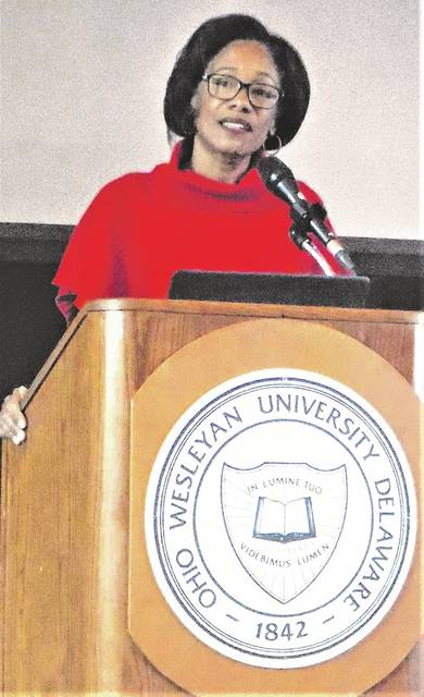 Dr. Korie L. Edwards from The Ohio State University was the keynote speaker for Delaware's 27th annual Martin Luther King Jr. Breakfast Celebration held Monday at Ohio Wesleyan University.