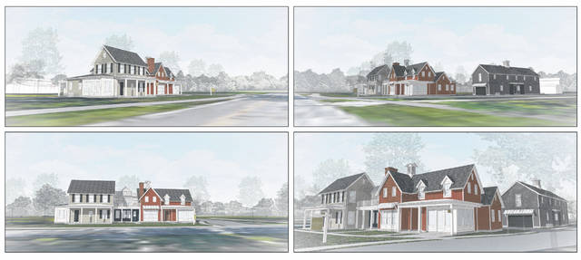 Pictured are various renderings from different angles of the proposed Carmendy Station development on South Liberty Street in Powell.