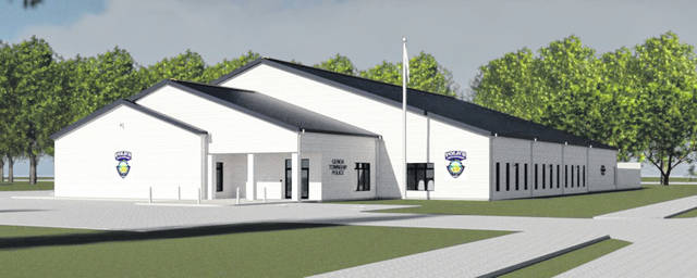 Pictured is a rendering of what the new Genoa Police Department building will look like once completed.