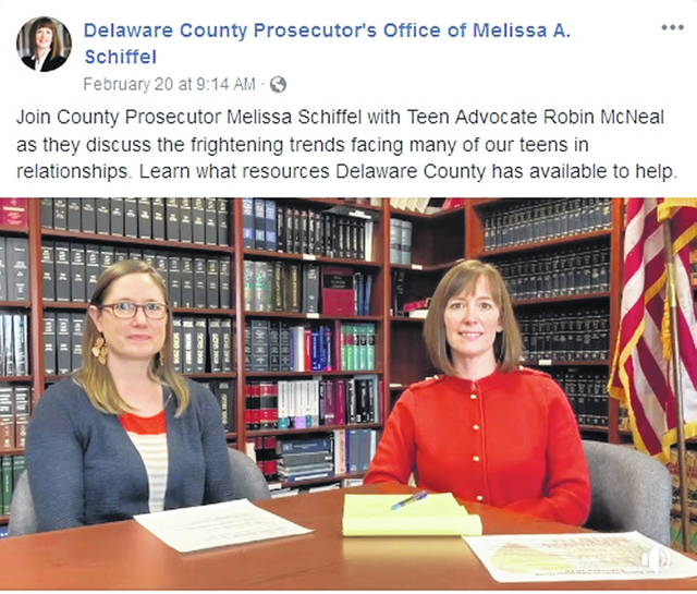 "Delaware County Prosecutor Melissa Schiffel sits down with Teen Advocate Robin McNeal in the Feb. 20 edition of ""Moments with Melissa,"" a discussion series on the county Prosecutor's Office Facebook Page."