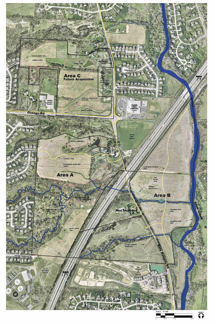 This map shows McCammon Park, the newest of the Preservation Parks of Delaware County.