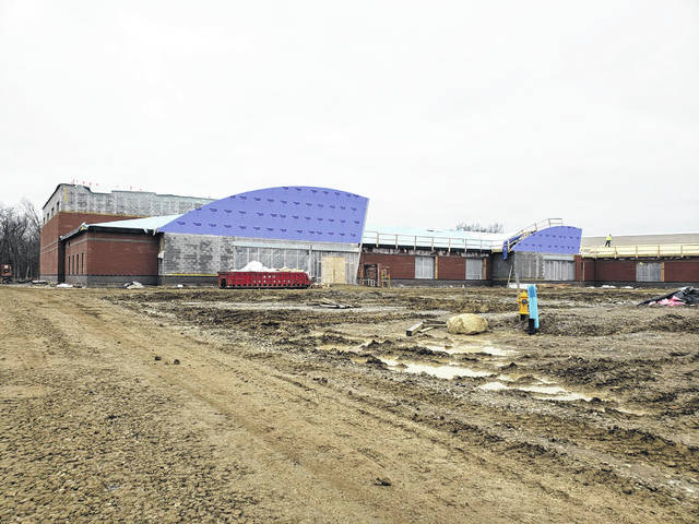 The main entrance of Prairie Run Elementary is shown in a picture taken Jan. 29.