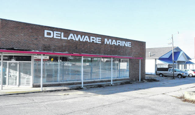 To make room for the new Sheetz location on the city's east side, the former Delaware Marine at 700 Sunbury Road will be razed as well as the building shown on the far right (former tobacco shop).
