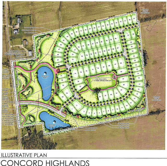 The illustrative plan for Concord Highlands in 2017. The developer is seeking to expand the subdivision.
