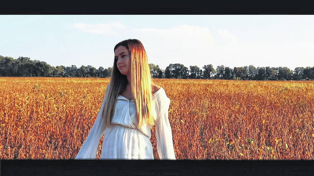 """""""Breakthrough"""" was written, shot, directed, edited and scored by Massis, and it stars fellow Hayes senior Paisleigh Middleton (pictured) as Caroline, a teen who undergoes hypnotherapy as a treatment for PTSD."""