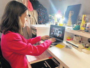 Students attend online conference