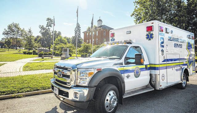 Pictured is Delaware County Emergency Medical Services' Medic 2 ambulance which serves the Sunbury area.