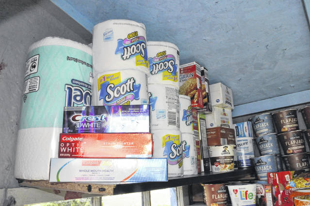 Along with non-perishable food items and various refrigerated items, the pantry was also stocked with personal hygiene products Friday morning.