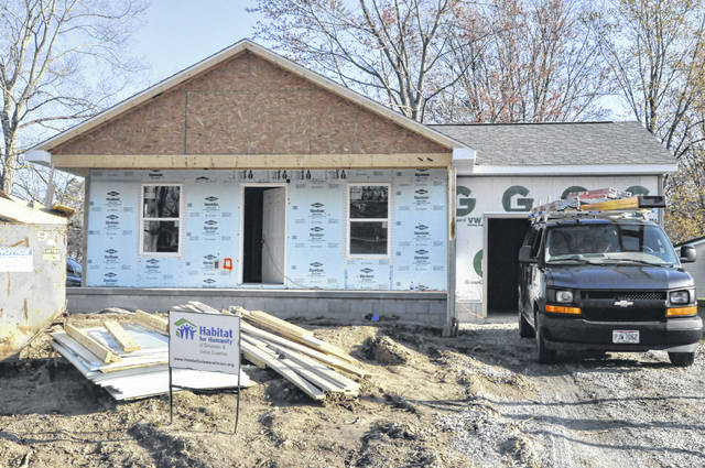 Pictured is Habitat for Humanity of Delaware & Union Counties' current home build at 73 Chamberlain St. in Delaware.