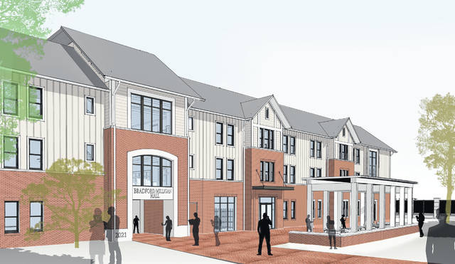 Ohio Wesleyan's first student apartment building will be named Bradford Milligan Hall in recognition of 1983 graduates Kathryn Bradford Milligan and John F. Milligan and their families. The 126-bed building is expected to open in May 2021.